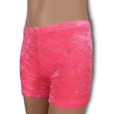 Turnbroekje roze velours (crushed)