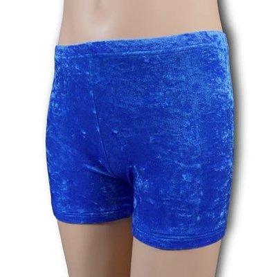 Turnbroekje kobalt blauw velours (crushed)