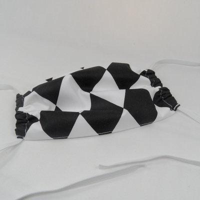 Mondkapje zwart wit