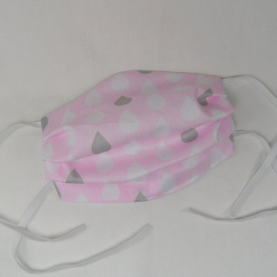 Mondkapje roze druppels