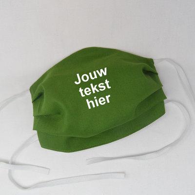 Mondkapje uni groen